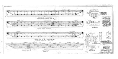 Schedule of Scarfs and Butts for Hull No. 233, Wooden Oil Barge