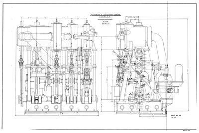 Quadruple Expansion Engine Plan for STR. E.M. FORD (1898)
