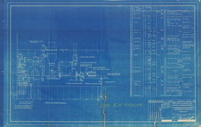 Ballast and Injection Piping in Engine Room Plan for American Ship Building Company