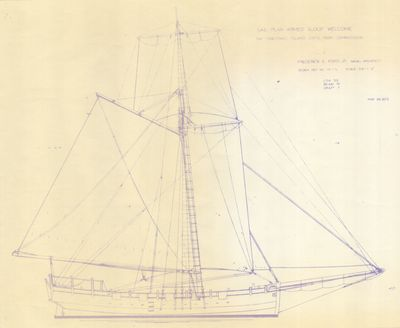 Plans for Sloop WELCOME (1775)