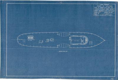 Shelter Deck Plan for Wooden Steamer Anna C. WILSON (1912)