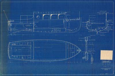Construction Plan for 30' Utility Sedan ONEOTA (1932)