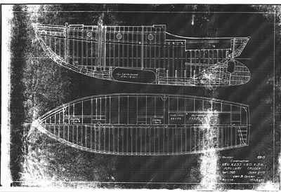 Construction Plans for Auxiliary Cruiser (1938) by Jack B. Spicer