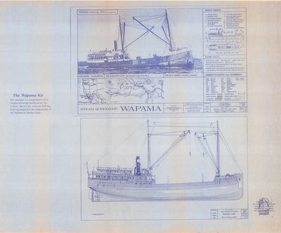 Cover Page and Outboard Profile for Steam Schooner WAPAMA (1915)