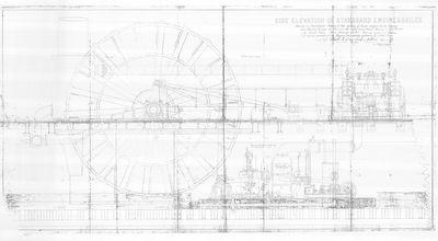 Side Elevation of Starboard Engine & Boiler (1889)