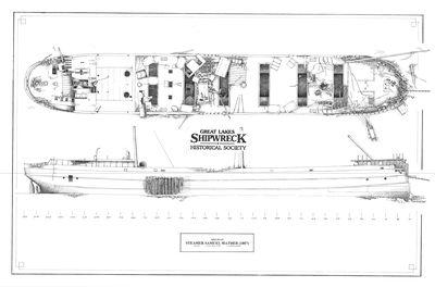 Archaeological Site Plan of Steamer SAMUEL MATHER (1887)