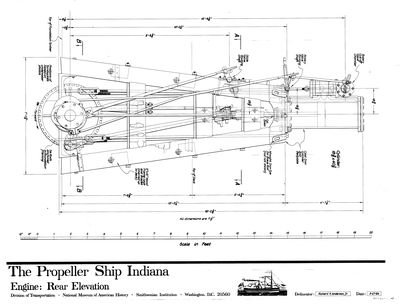 Rear Elevation of Engine for the Propeller INDIANA (1848)