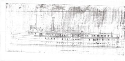 Outboard Profile for CITY OF MACKINAC (1883)