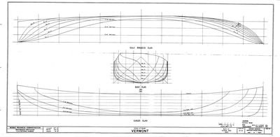 Hull Lines and Body Plan for VERMONT (1853)