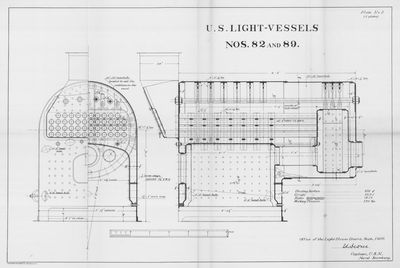 Boiler Layout and Details for U.S. Light-Vessels Nos. 82 and 89