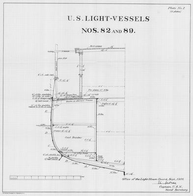 Midship Section for U.S. Light-Vessels Nos. 82 and 89