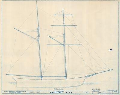 Sail Plan for CLIPPER CITY (1854)