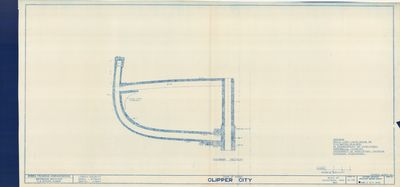 Midship Section for CLIPPER CITY (1854)