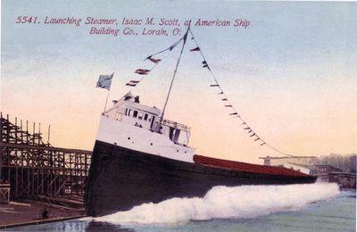 ISAAC M. SCOTT (1909, Bulk Freighter)