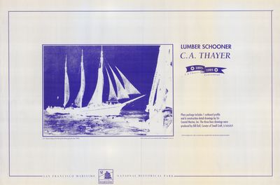 Plans series on Lumber Schooner C.A. THAYER (1895)