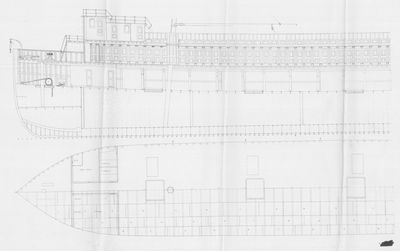 Profile and Cabin views for Steamer for the Detroit Grand Haven and Milwaukee Railway
