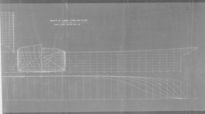 Draft Lines for STR NOs. 17 & 18 by Detroit Dry Dock