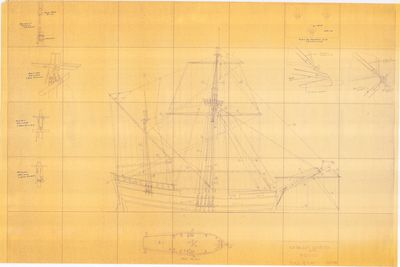 Rigging Plan for Le GRIFFON (1679)