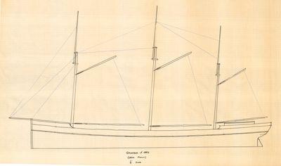Outboard Profile of GALETEA (1882)