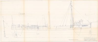 Outboard Profile for D.D. Calvin (1883)