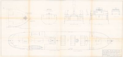 Deck Plans & Sections for Steam Barge D.D. CALVIN (1883)