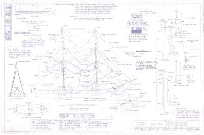 General Construction details for model of USS Brig NIAGARA