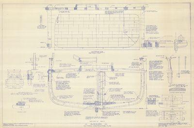 Sectional Construction Plans for Schooner ALVIN CLARK (1846)