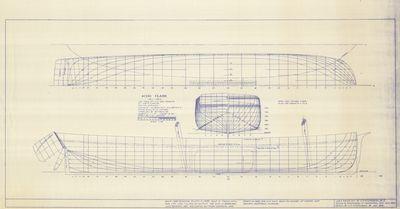 Hull Lines and Body Plan for Schooner ALVIN CLARK (1846)