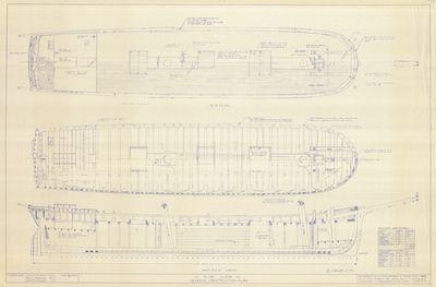 General Construction Plan for Schooner ALVIN CLARK (1846)