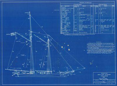 Rigging Plan for Model Schooner CHALLENGE (1852)