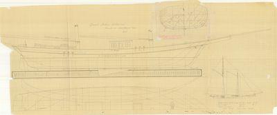 General Arrangement for Schooner Challenge (1852)