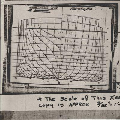 Stern Lines Plan for MATAAFA (1899)