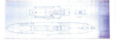 Joiner Plans of Saloon & Upper Decks for DELPHINE (1921)