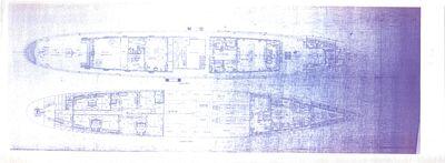 Joiner Plans of Main & Lower Decks for DELPHINE (1921)