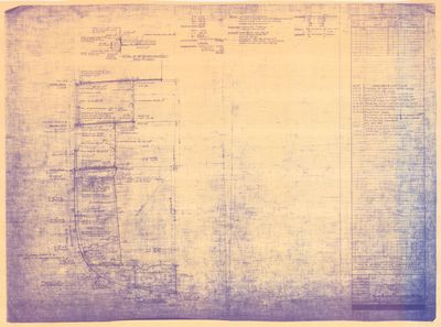 Midship Section for DELPHINE (1921)