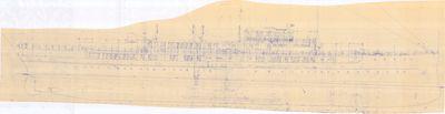 Outboard Profile for DELPHINE (1921)