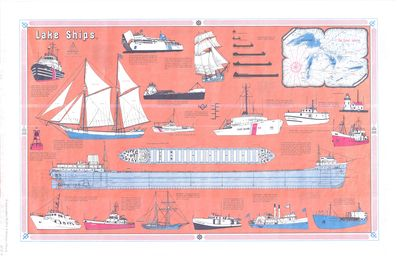 Great Lakes Vessel Evolution Chart by Mariner Chart Shop