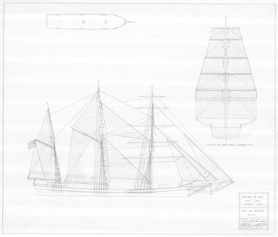 Sail and Rigging Plan for JAMES F. JOY (1866)