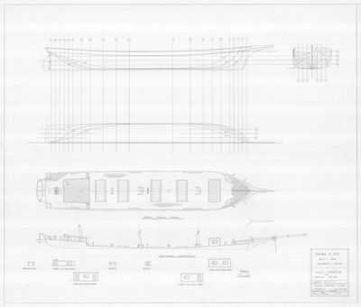 Hull Surface and Deck Surface for JAMES F. JOY (1866)