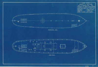 Main and Promenade Deck Arrangement for ANNA C. WILSON (1912)