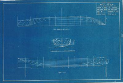 Hull Lines for Wooden Steamer ANNA C. WILSON (1912)