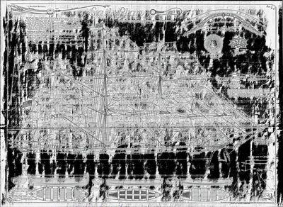 Sail Plan for Tea Clipper CUTTY SARK (1870)