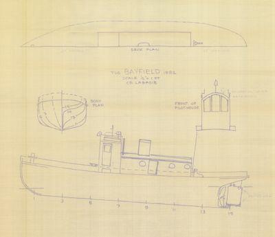 General Arrangement for Tug BAYFIELD (1892)