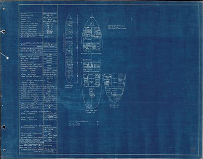 Hold Plan for GEORGE STEPHENSON (1896)