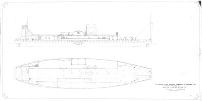 Outboard Profile and Deck View for LANSDOWNE (1884)