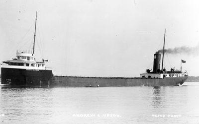 ANDREW S. UPSON (1909, Bulk Freighter)