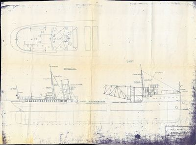 Riggin Plan for HURON (1914, Bulk Freighter)