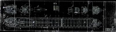 General Arrangement Upper Decks for ALGOSOO (1974) [Hull No. 206]