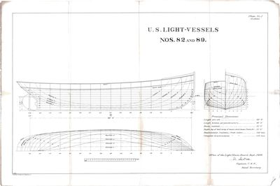 Hull Lines for U.S. Light-Vessels Nos. 82 and 89