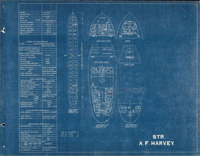 Hold Plan for A.F. HARVEY (1927)